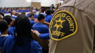 This file image shows inmates at an Los Angeles County jail.