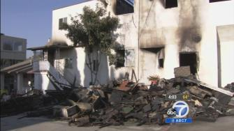 A fire broke out at an Echo Park apartment building Thursday, Dec. 12, 2013. Two people were killed.