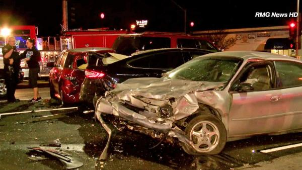 7-car wreck caused by suspected drunk driver