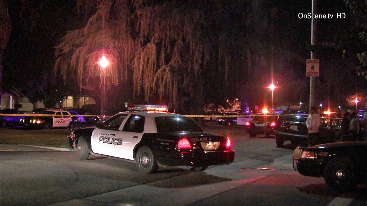 Pomona police investigate a shooting and assault on Saturday, Jan.4, 2014.