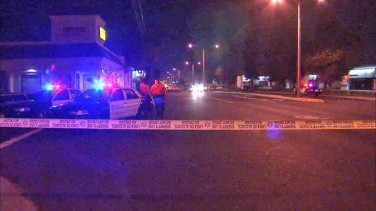 Authorities investigate a shooting in Norwalk that left a man dead Sunday, Jan. 26, 2014.