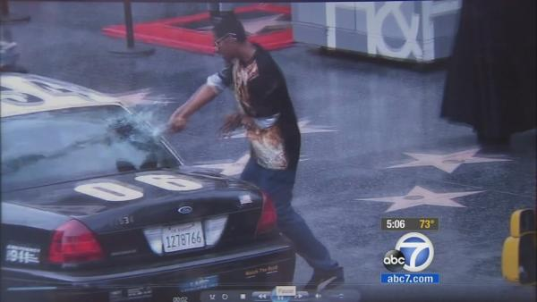 Man who vandalized LAPD cop car identified