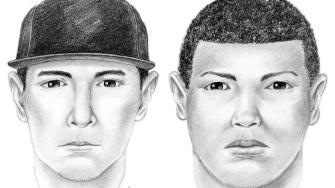 Police are asking for the publics help in identifying two men wanted for questioning in the attack of a 19-year-old woman in the 2000 block of Beverly Plaza in Long Beach Monday, March 3, 2014.