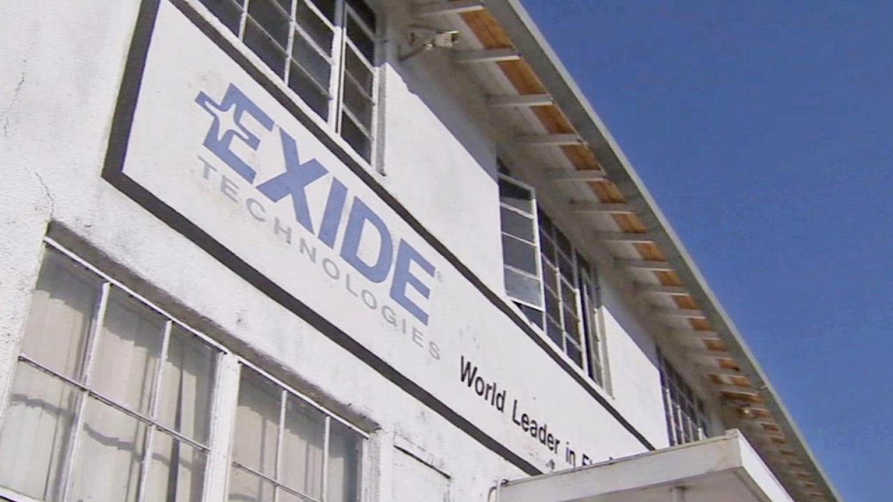 The Exide Technologies Plant is shown in this undated file photo.