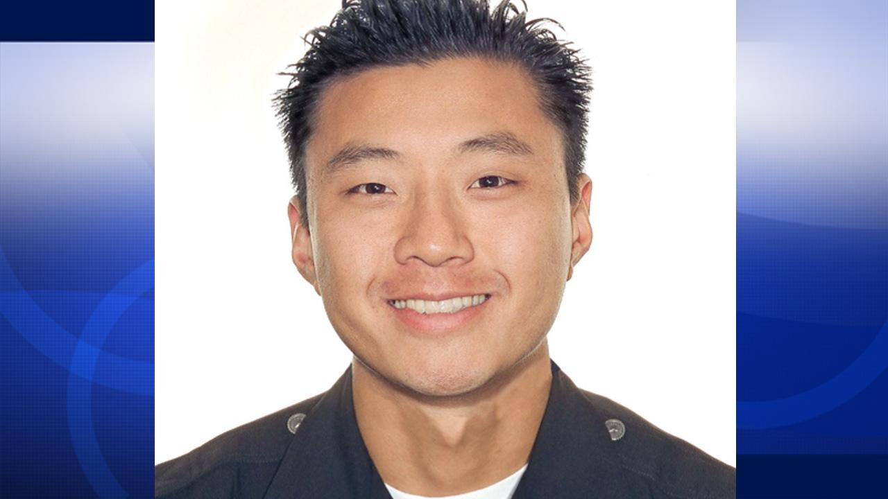 Officer Nicholas Choung Lee is seen in this photo from the LAPD.