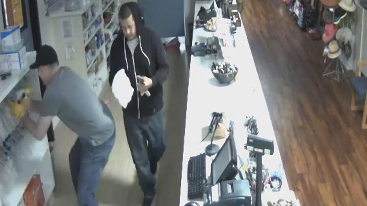 The two men are suspected of a series of pharmacy burglaries between September 2013 and March