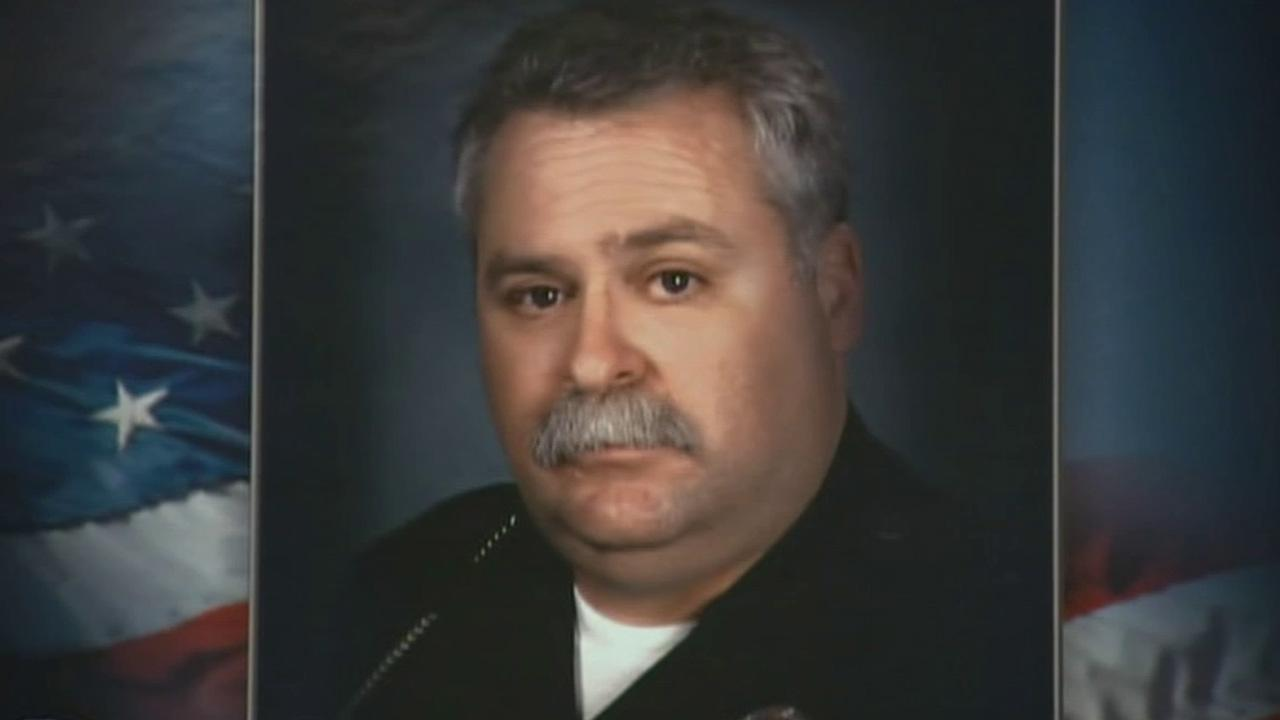 LAPD Officer Chris Cortijo died Wednesday, April 9, 2014, from injuries he sustained when a suspected DUI driver crashed into his motorcycle in Sun Valley on Saturday, April 5, 2014.