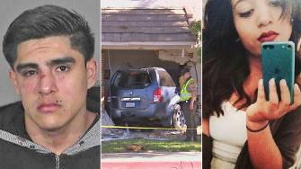 Roberto Rodriguez, 20, is seen left in a mug shot Sunday, April 20, 2014. Rodriguez crashed into a Palmdale apartment, seen center, killing Giselle Mendoza, 16, is seen in right in an undated file photo.
