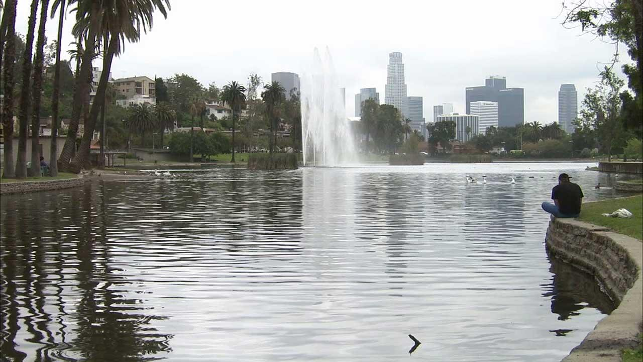 Echo Park Lake is seen in this undated file photo.