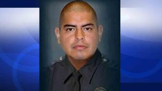LAPD Officer Roberto Sanchez was killed in a hit-and-run crash near Anaheim Street and President Avenue in Harbor City Saturday, May 3, 2014.