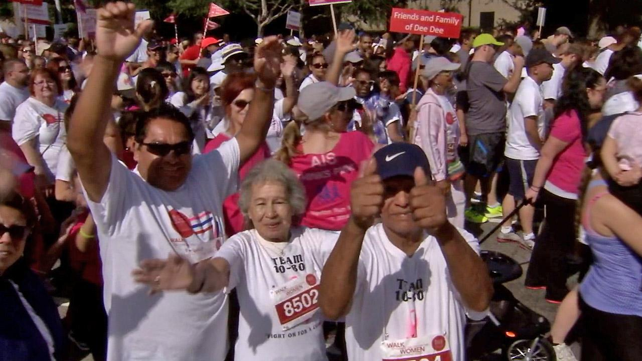 Participants are seen at the Revlon/Run Walk at Exposition Park on Saturday, May 10, 2014.