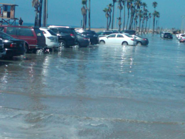 ABC7 viewer Lori Oravetz sent in this photo of the high tide flooding the Balboa Pier on Wednesday, Aug. 31, 2011.  When You Witness breaking news, or even something extraordinary, send pictures and video to video@myabc7.com, or send them to @abc7 on Twitter <span class=meta>(ABC7 viewer Lori Oravetz)</span>