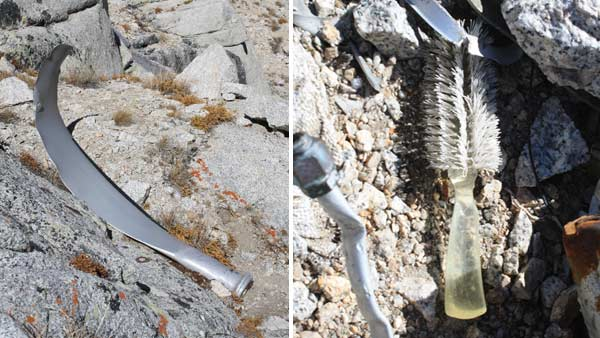 Eslick found plane parts and personal items scattered across the site of the crash.  <span class=meta>(Taylor Eslick)</span>