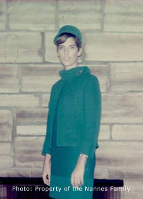 Patty Nannes was 21 years old living out her dream as a stewardess in 1969.