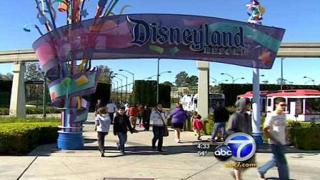 An entrance to Disneyland in Anaheim, Calif. is seen in this file photo.