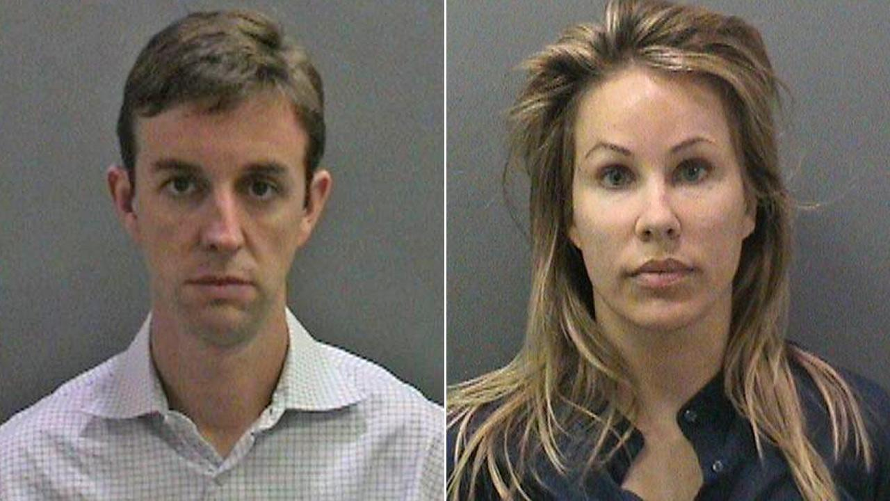 Jill and Kent Easter, parents of an Irvine elementary school student, were arrested for allegedly planting drugs on a parent volunteer at their sons school.