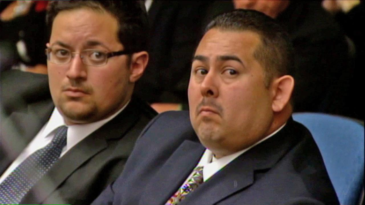 Officer Manuel Ramos is seen in this photo during a preliminary hearing Monday, May 7, 2012. Ramos is one of two officers accused in the beating death of Kelly Thomas.