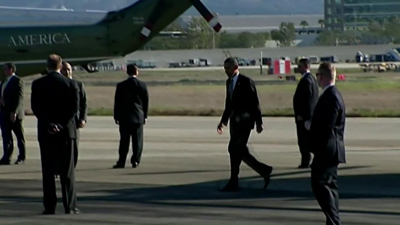 President Barack Obama is seen during his visit to Southern California in February 2012.