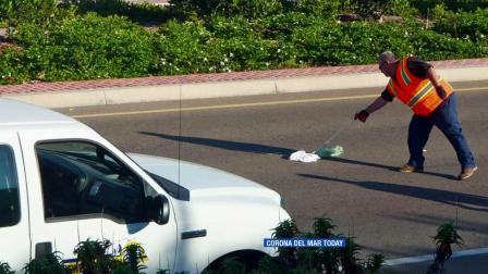 A dirty adult diaper is seen on MacArthur Boulevard on Thursday, Sept.