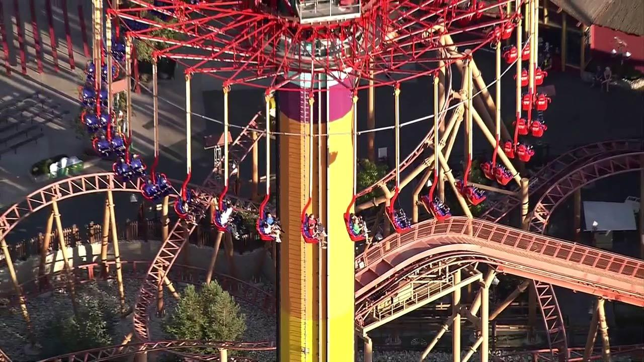 Twenty people were left trapped hundreds of feet above the ground when the Knotts Berry Farm ride they were on, WindSeeker, apparently malfunctioned on Wednesday, Sept. 19, 2012.