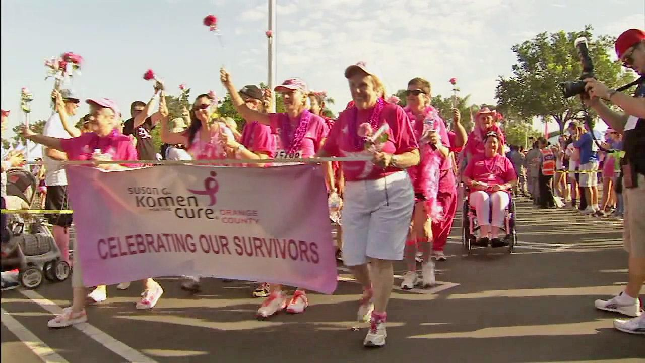 Survivors in the Susan G. Komen Orange County Race for the Cure are seen during the race in Newport beach on Sunday, Sept. 23, 2012.