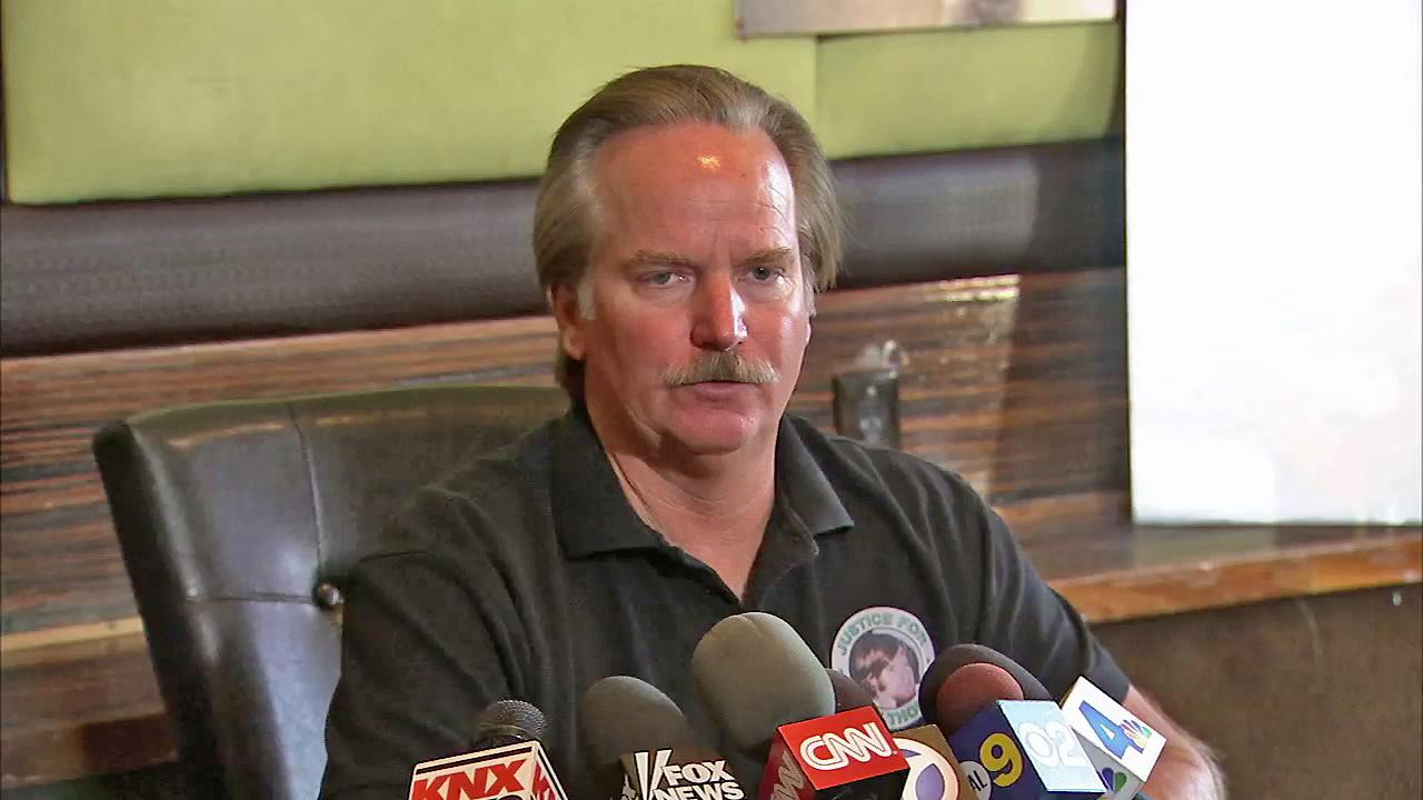 Ron Thomas is seen speaking at a news conference on Friday, Sept. 28, 2012.