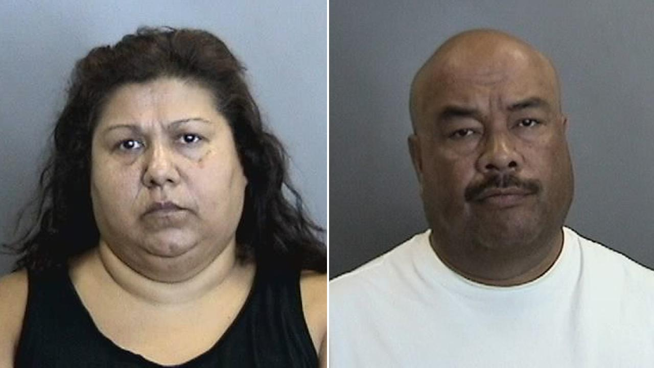 Cindy Ann Sua, left, and her husband John, right, are shown in booking photos provided by the Orange County District Attorneys Office.