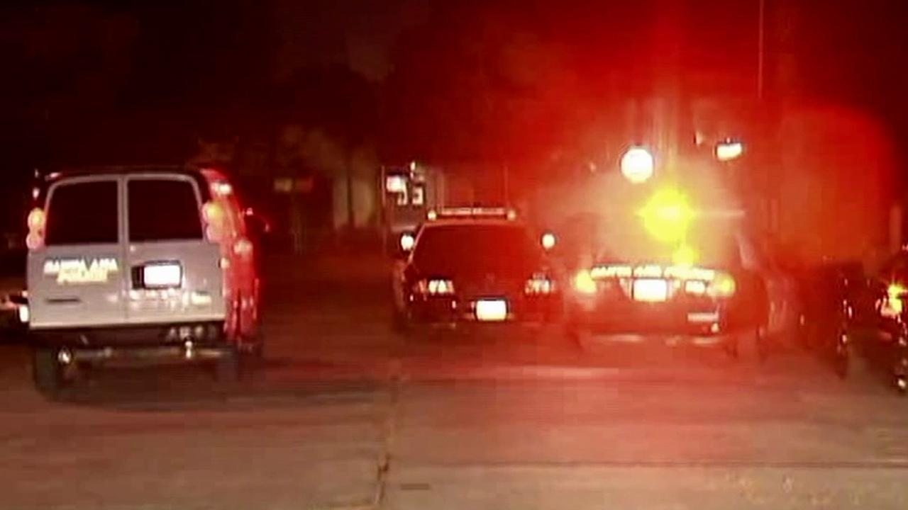 Authorities investigate an officer-involved shooting in Santa Ana on Monday, Oct. 22, 2012.