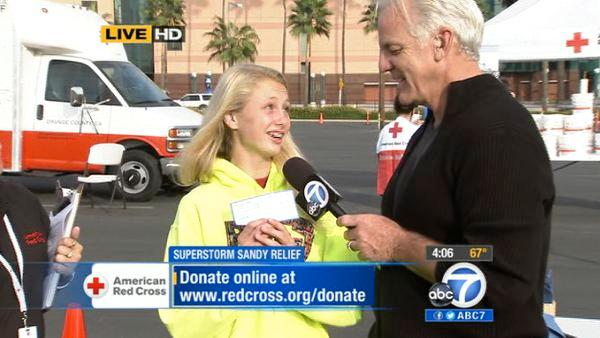 Young girl collects Sandy donations