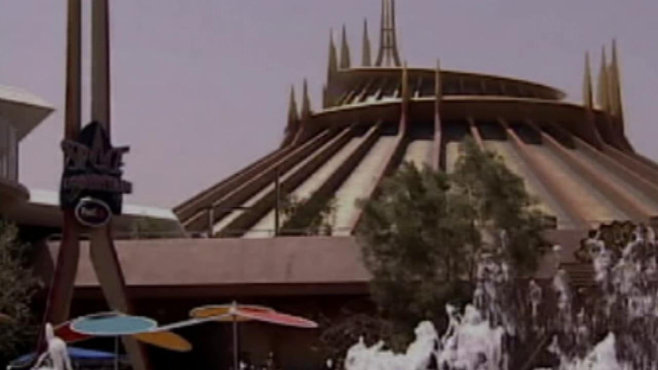 The Space Mountain ride at Disneyland is seen in this undated file photo.