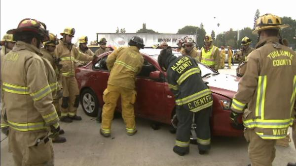 Firefighters undergo extrication training