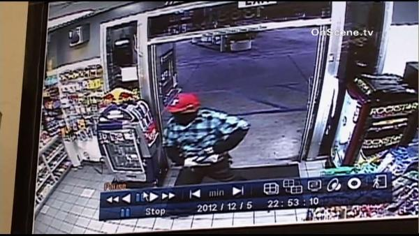 OC gas station armed robbery caught on tape