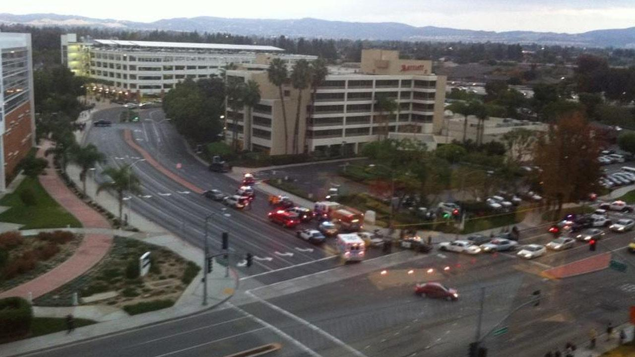 In this Twitter photo from California State Fullerton, campus police said they were searching for a possibly armed suspect who may have been hiding out on campus on Wednesday, Dec. 12, 2012.twitter.com/csuf