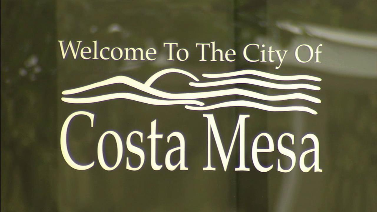 A sign for the city of Costa Mesa is seen in this undated file photo.