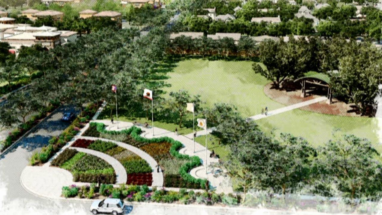Plans for the Great Park in Orange County are shown in this rendering.