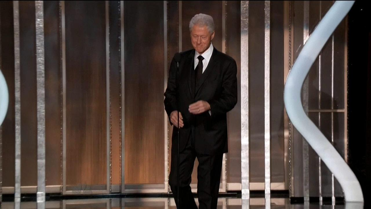 President Bill Clinton introduced a clip of the movie Lincoln during a surprise appearance at the Golden Globe Awards in Los Angeles on Sunday, Jan. 13, 2013.
