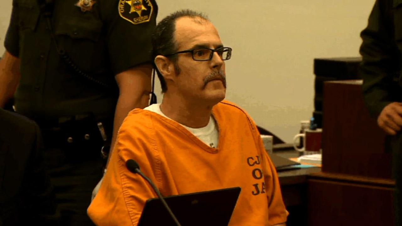 Scott Dekraai, the man accused of going on a shooting rampage at a Seal Beach salon, is seen in a courtroom hearing on Friday, Jan. 25, 2013.