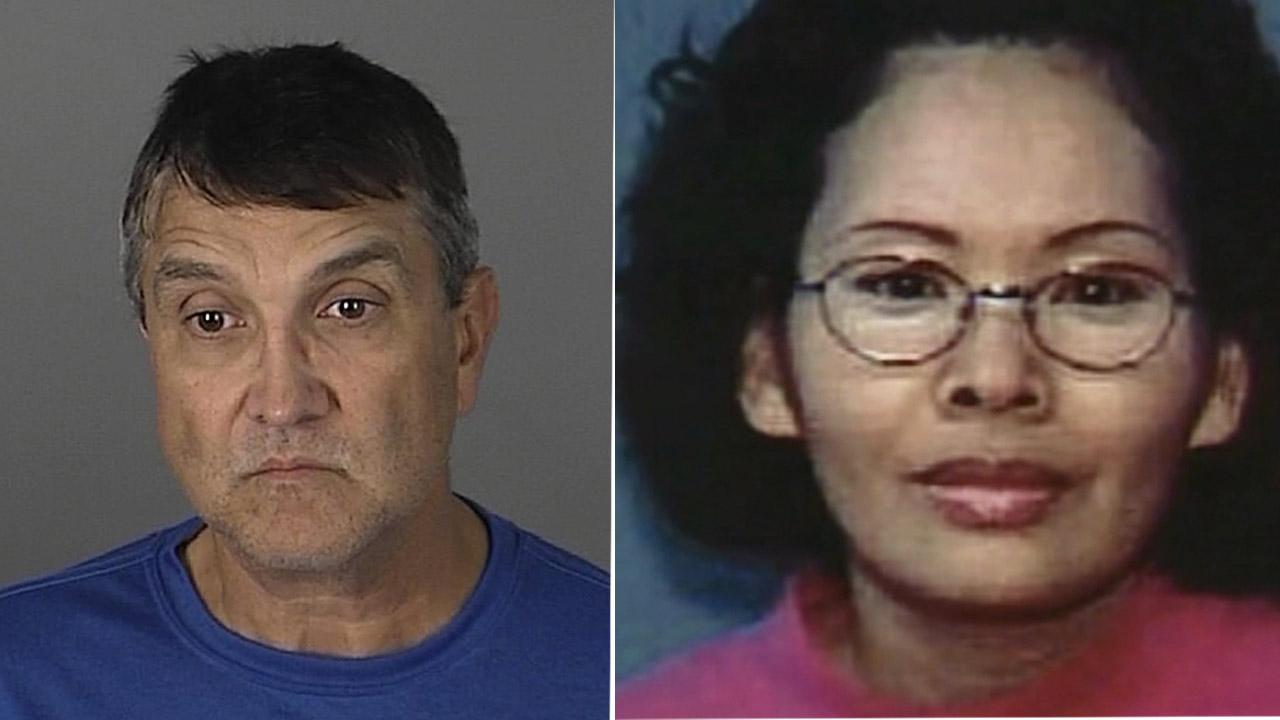 Lonnie Kocontes, 55, of Safety Harbor, Fla. (left) was arrested on one felony count of special circumstances murder for financial gain Friday, Feb. 15, 2013. He is accused of allegedly strangling his ex-wife, identified as Micki Kanesaki (right).