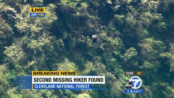 Missing hiker Kyndall Jack is rescued from the Cleveland National Forest in Orange County on Thursday, April