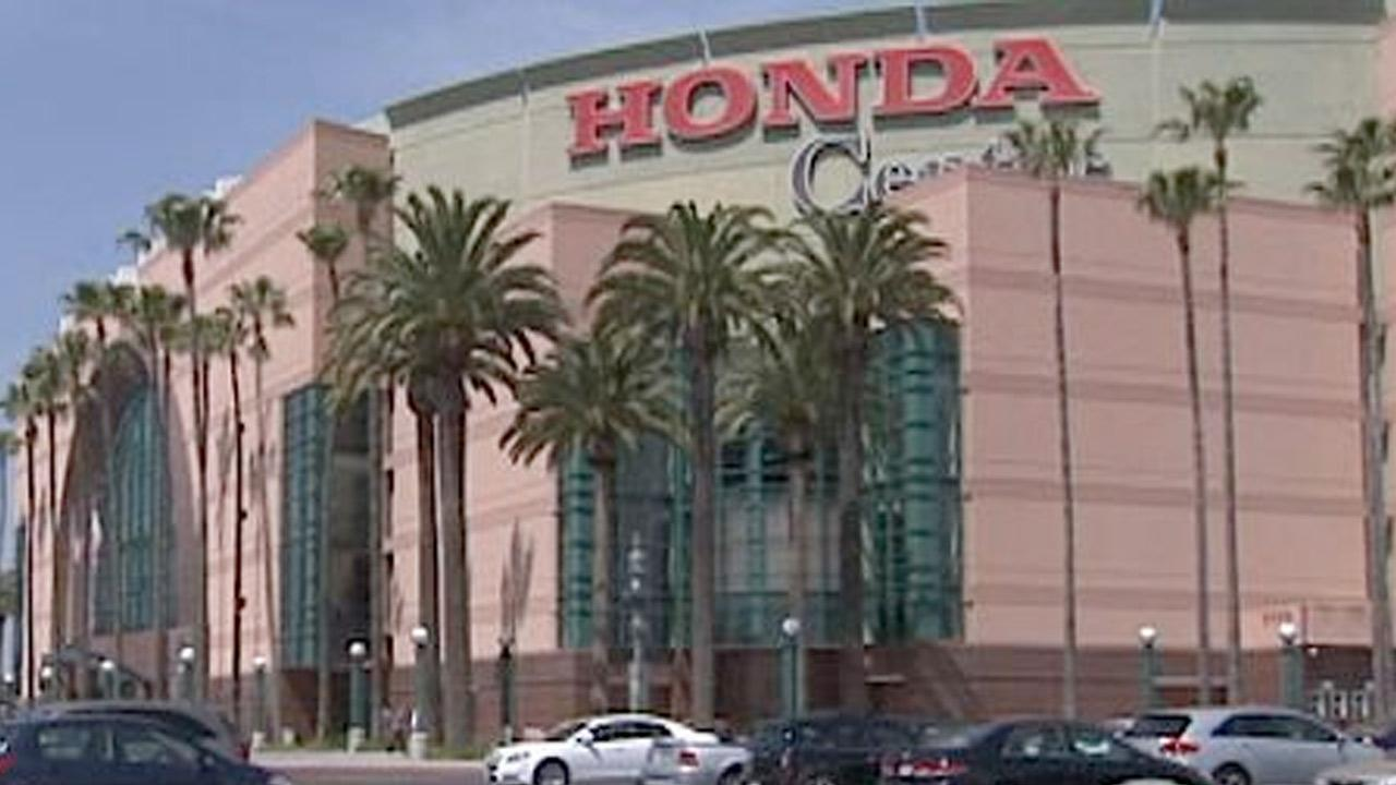 The Honda Center in Anaheim, Calif., is seen in this undated photo.