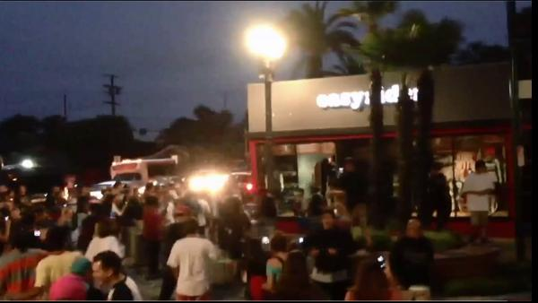 Crowds act unruly during what police called a major disturbance in Huntington Beach following the U.