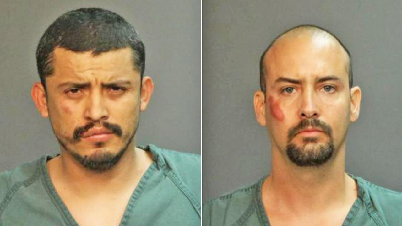 Jose Ortiz, left, and Ryan Tischer, right, appear in booking photos.