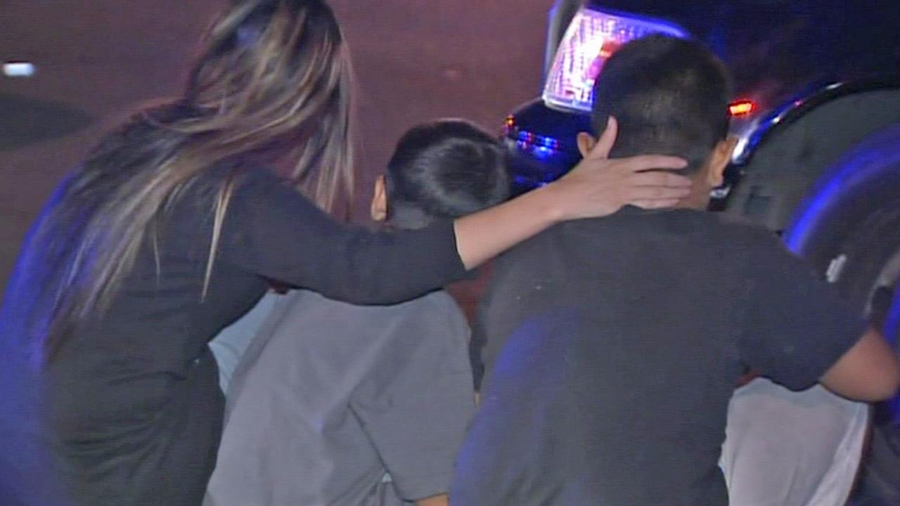 A mother was reunited with her two small children after the kids father took off with them and led authorities on a pursuit on Friday, Sept. 27, 2013.