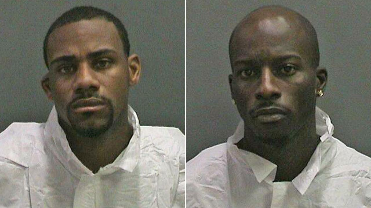 Timothy Bates, left, and Albert Fletcher Brown, Jr., are seen in mugshots provided by the Orange County Sheriffs Department.