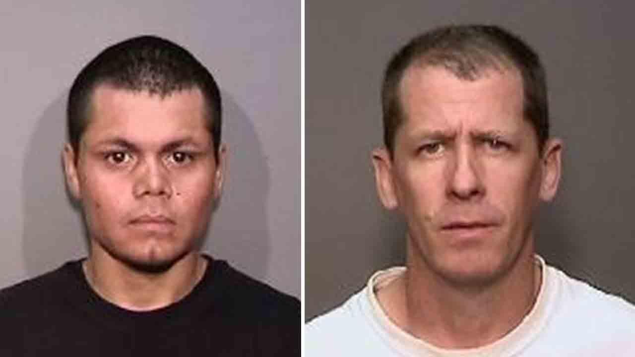 Franc Cano, 27, (left) and Steven Dean Gordon, 45, (right) both transients of Anaheim, were arrested on Friday, April 11, 2014, in connection to the murders of four women.