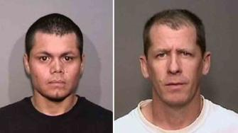 Franc Cano, 27, (left) and Steven Dean Gordon, 45, (right) both transients of Anaheim, were arrested in connection to the murders of four woman across Orange County on Friday, April 11, 2014.