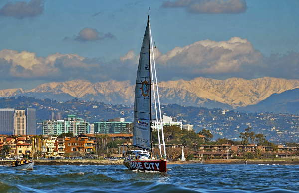 "<div class=""meta ""><span class=""caption-text "">Abby Sunderland, 16, pilots her sailboat Wild Eyes as she leaves for her world record attempting journey Saturday, January 23, 2010, in Marina del Rey, Calif. Sunderland was attempting to be the youngest person to complete a nonstop, unassisted solo-circumnavigation of the globe by sea.  (AP Photo/Richard Hartog)</span></div>"