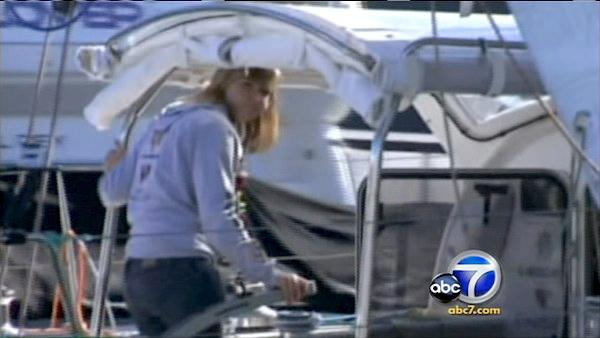 Ventura County teen Abby Sunderland, seen here on her boat, attempted to sail around the world solo but wild waves snapped her boat's mast and ended the 16-year-old's trip.