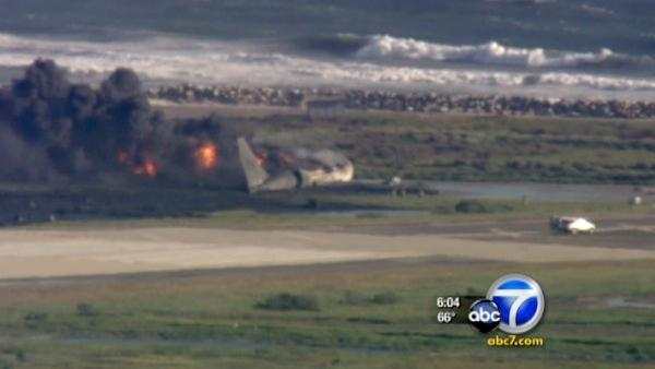 A Boeing 707 plane with three people onboard crashed in Point Mugu naval air base in Ventura County on Wednesday, May 18, 2011.