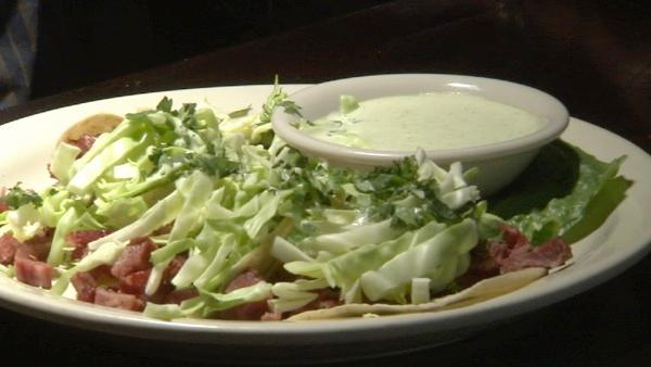Try their Irish tacos with corned beef, cabbage, cilantro and special sauce served on warm torillas. Mention ABC7 and get 50 percent off the tacos.